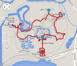 Magic Kingdom 2.17 Miles / 3.49 Kilometers