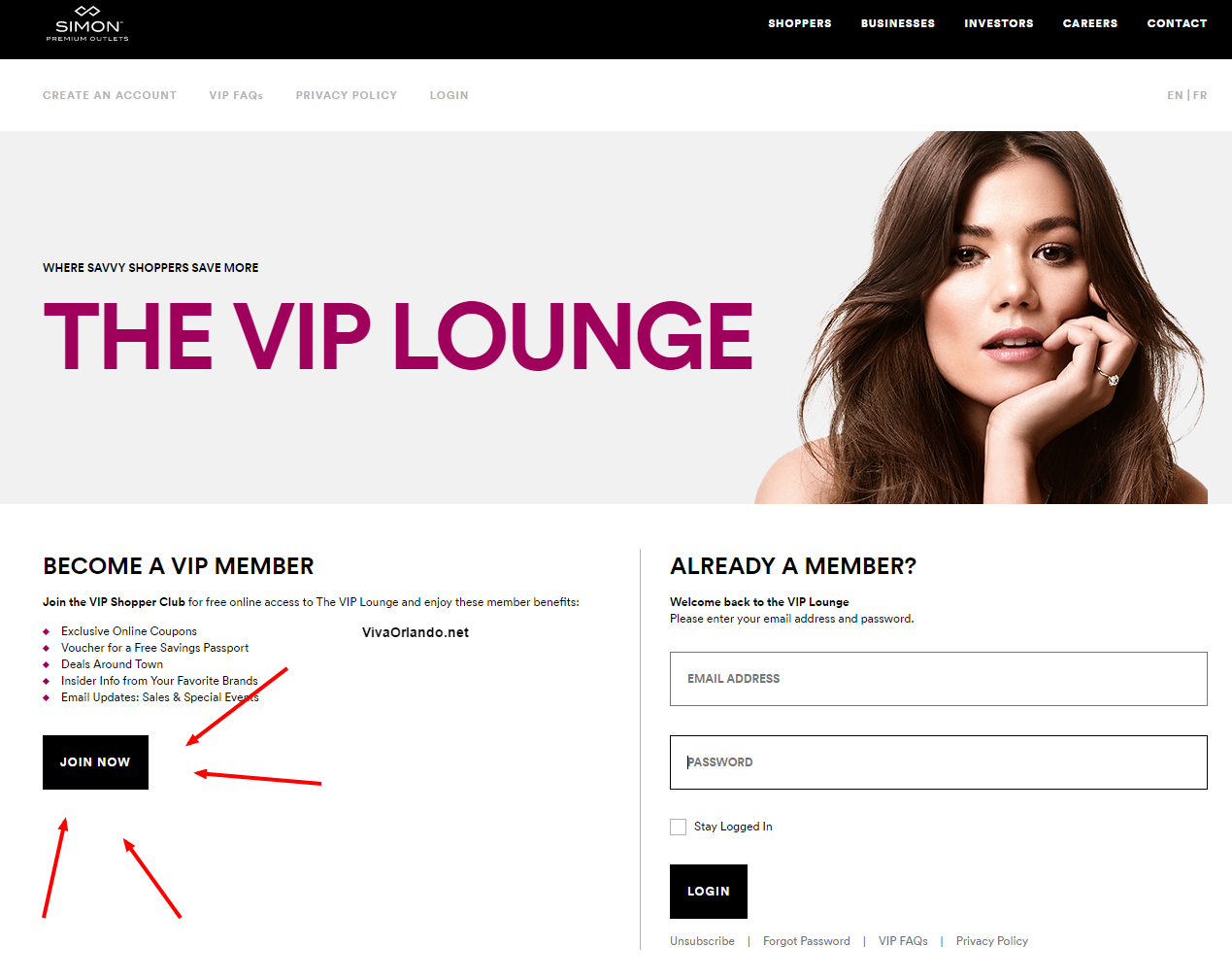 Login To The VIP Lounge – Premium Outlets